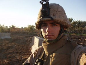 Lieutenant Thomas Daly outside COP Rage in Juwayba, Iraq. Photo courtesy of the author.