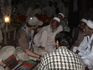 A late-night meeting with Malik Noorafzhal and other elders