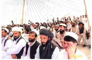 Tribal elders gathering this summer in Zazi to organize a Tribal Police Force