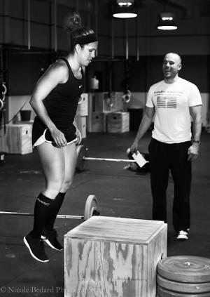 Brian Wilson coaching Jen Navarro. Photo Credit: Copyright Nicole Bedard.