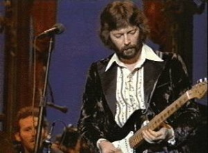 Eric Clapton playing in The Last Waltz
