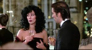 "Cher and Nicolas Cage in ""Moonstruck"" by John Patrick Shanley"