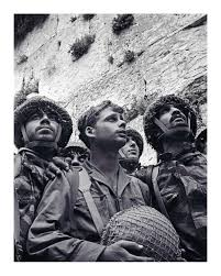 David Rubinger's iconic photo of Israeli paratroopers at the Western Wall, 7 June 1967.