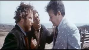 """""""It's a Great White and it's feeding in the waters off Amity!"""" Richard Dreyfuss, Roy Scheider, and Murray Hamilton in JAWS."""
