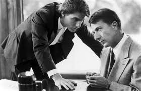 "Tom Cruise and Dustin Hoffman in ""Rain Man"""