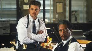 """Brad Pitt and Morgan Freeman in """"Se7en"""""""