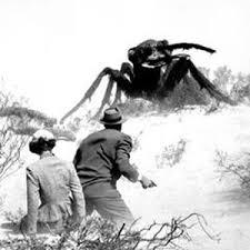 "A moment from ""THEM,"" 1956. Maybe mutated ants would be better than spiders."