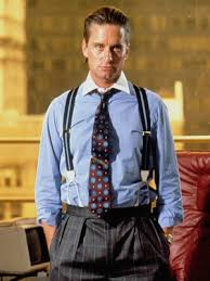 "Michael Douglas as Gordon Gekko in Oliver Stone's ""Wall Street"""